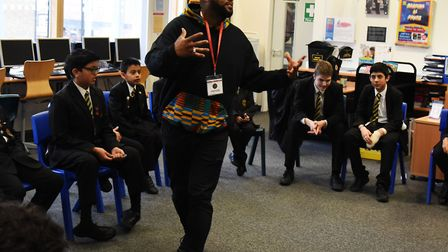 Students at Rokeby School taking part in their music development workshop.