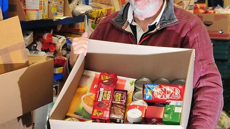 Project Manager for East Suffolk Foodbank Philip Riley in the Lowestoft store.