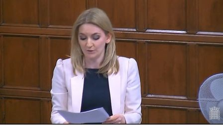 Hornchurch and Upminster MP Julia Lopez speaking in Westminster Hall yesterday. Photo: Parliament TV