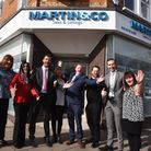 Staff celebrate the opening of Martin & Co in Wanstead High Street.