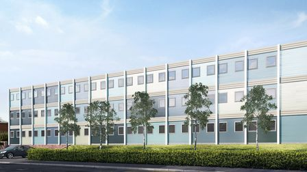 A CGI mock-up of scrapped plans for temporary accomodation for 30 families in Brocket Way, Hainault.