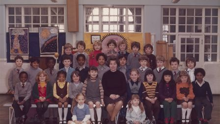Steve McQueen�s Year 3 class at Little Ealing Primary School, 1977. Steve is seated fifth from the l