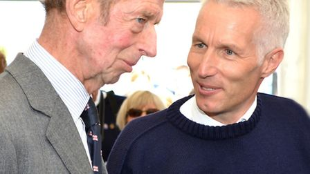 The Duke of Kent attends the naming ceremony of the 'Patsy Knight' lifeboat in Lowestoft.Speaking wi