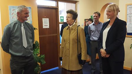 Princess Anne visits Access Community Trust in Lowestoft. Picture: Supplied