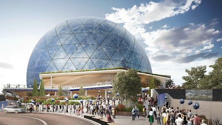 CGI of the proposed MSG Sphere. Picture: MSG