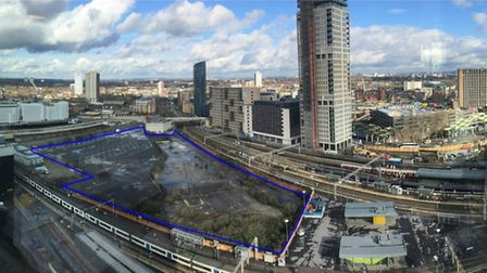 The location where the proposed MSG Sphere would be built. Picture: MSG