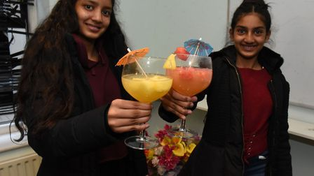 Hannah,15 and Naomi, 11 Chowdhry will be working to set up a bar for teenagers at a Community Centre
