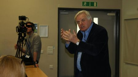 Michael Grade visited University of East London students to offer some career advice. Picture: UEL