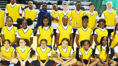 St Francis Primary School won the Year Three & Four Mixed Sportshall Athleticsl Competition at the L