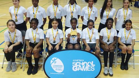 Langdon Academy won the Under-13 Girls Handball Competition at the London Youth Games for Newham (pi