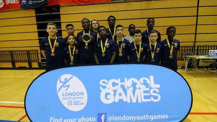 Kingsford Community School won the Under-13 Boys Handball Competition at the London Youth Games for