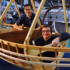 The 2016 London Boat Show at ExCel. Rob Harbord, left, instructor, and Mike Tupper, managing directo