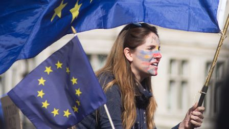 Young voter on EU march to Westminster in 2017. Picture: Mike Brooke