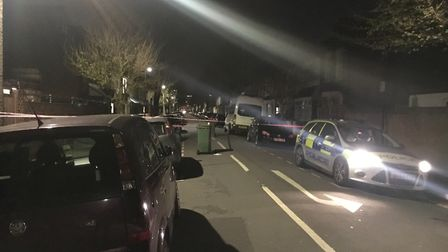 Police on the scene in Harcourt Road, Plaistow. Picture: Archant