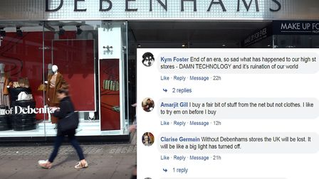 Ilford residents are concerned over the future of the Ilford Debenhams after the company went into a