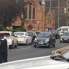 A woman in her 50s has been taken to hospital after a crash in Romford.