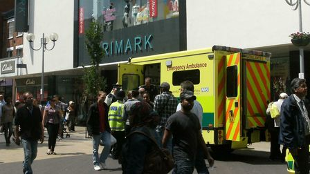 Shutters drawn at Primark after the store in High Road was evacuated back in 2011.