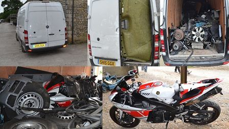 Stolen vehicles seized from Balciunas' property. Picture: Met Police