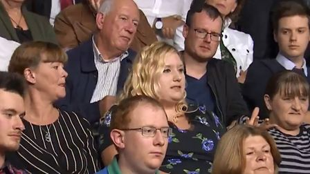 This Leave voter on BBC Question Time now supports Remain and a People's Vote (Photograph: BBC)