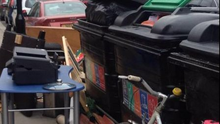 A fly-tipping spot in London. Picture: Westminster Council