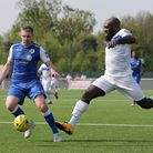 Greg Akpele of Romford during Grays Athletic vs Romford, Bostik League North Division Football at Pa