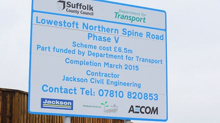 The official opening of the Northern Spine Road in Lowestoft by Patrick McLoughlin, Secretary of Sta