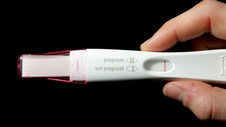 A home pregnancy test, and its instructions. Picture: DOMINIC LIPINSKI