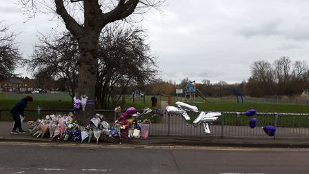 Streets and pubs around Harold Hill are turning purple for murder victim Jodie Chesney.