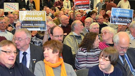 Public meeting on the third crossing in Lowestoft, held at Orbis Energy on Wednesday, February 18.