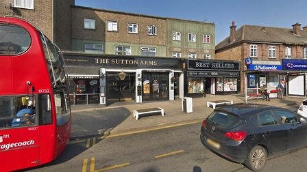 The Sutton Arms pub in Hornchurch. Picture: Google Maps