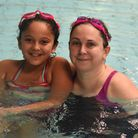 Jenny Russell and daughter Robyn are swimming 33 miles for the Queen's Hospital Sunflower Suite.