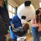 Jeremy the panda visited children at the charity fundraiser. Picture: Zoe Robinson