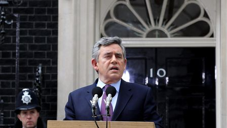 Gordon Brown made it into Downing Street without winning a general election. Photo by Matt Cardy/Get