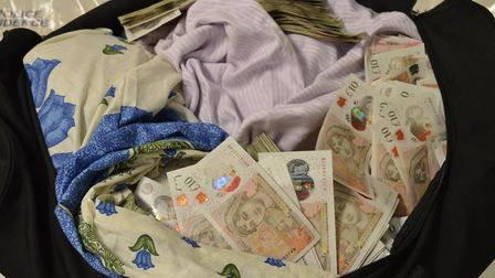 The National Crime Agency seized nearly £1.5m in cash. Picture: NCA