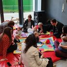 New facilities give babies space to play while parents chat. Picture: Kamal Sultan.