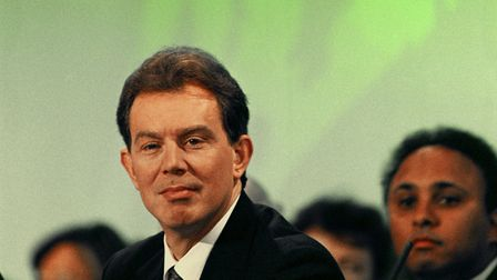 Tony Blair on stage for the start of the 1994 Labour Party conference.