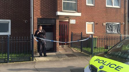 Police at a property in Vandome Close where two women were found dead. Picture: Tom Pilgrim/PA Wire