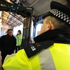 Police at Ilford Station. Picture: PA