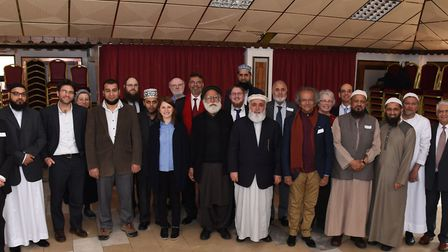 A gathering of faith leaders at the Ilford Islamic Centre, in Albert Road, in 2017. Picture: Ken Mea
