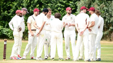 South Woodford players celebrate after taking a wicket (pic: Graham Hodges).