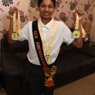 Jayden Bahra has done a triathlon and is aiming to raise �1000 for charity.