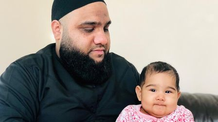 Maryam with her father Shakil. Picture: Rachael Burford