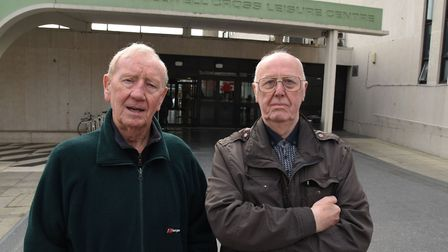 Pensioners Len Anness and Alec Kushway are angered by their Early Bird membership of the Fullwell Cr