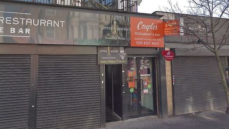 The entrance to the After Hours Dessert and Shisha Lounge in Goodmayes Road. Picture: Google
