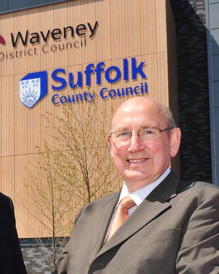 Official opening of the new Riverside building for Waveney and Suffolk council.Colin Noble and Colin