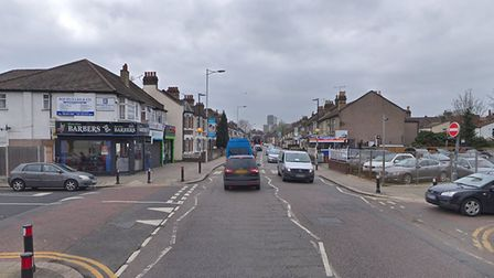 Two women in a black Mercedes E Class car were attacked by a group of boys in Green Lane, near the j