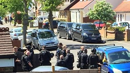Armed police flocked to Greenway, Harold Hill, on Tuesday, May 14, after reports of a wanted man sta