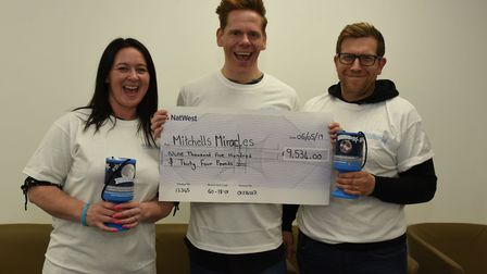 Lloyd Warbey from Art Attack with Kristel Huth and David Denison from Mitchell's Miracles