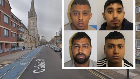 Four men have been jailed for a collective total of 70 years after they brutally attacked a man on C