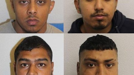 These four men have been jailed for the attack. Clockwise from top left: Mohammed Habib Ali, Alomgir
